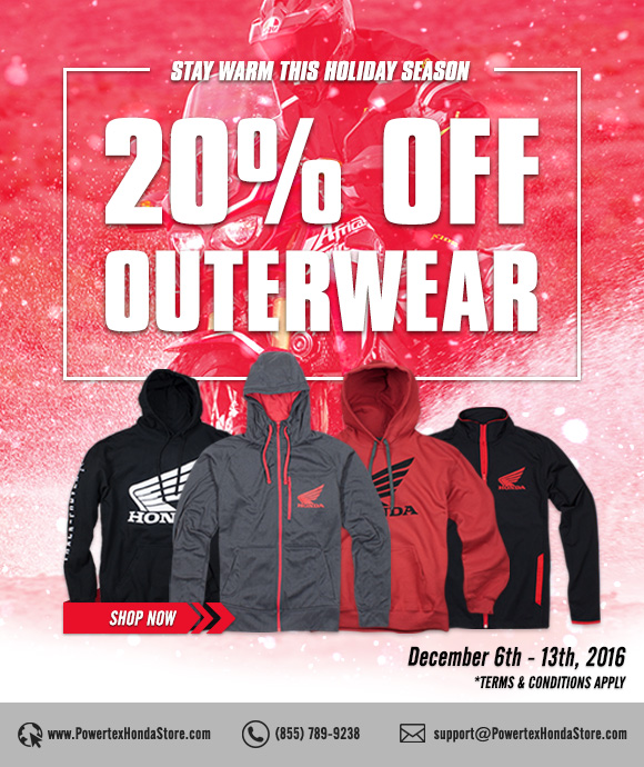 20% Off Outerwear